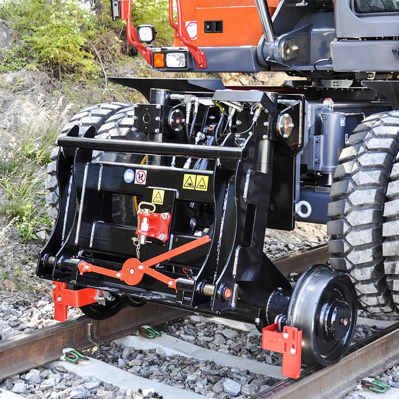 Rälshjulsutrustning hjulgrävmaskin 10-16T