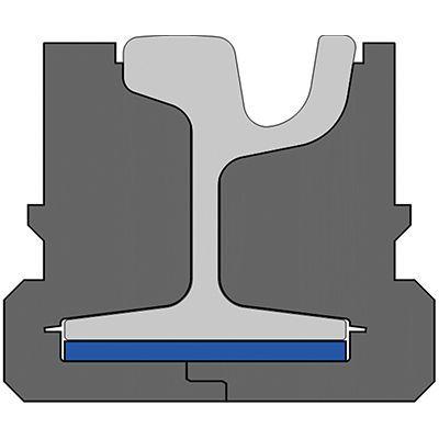 Pandrol QTrack® XP variation for LRT